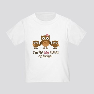 Big Sister of Twins - Mod Owl T-Shirt