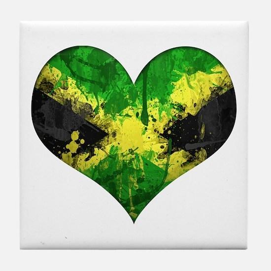 Jamaican heart Tile Coaster