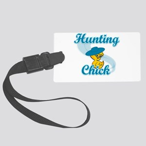 Hunting Chick #3 Large Luggage Tag