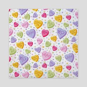 Valentines Candy Hearts Queen Duvet
