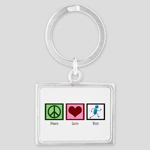 Peace Love Run Landscape Keychain
