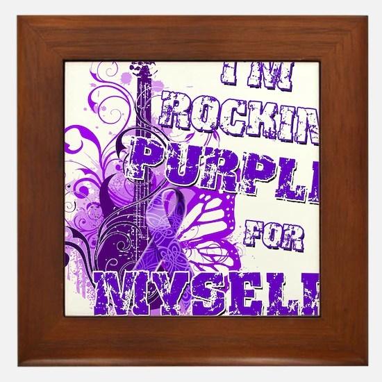Im Rockin Purple for Myself.png Framed Tile
