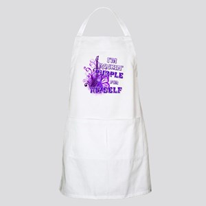 Im Rockin Purple for Myself Apron