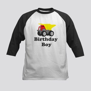 Dump Truck Birthday Boy Kids Baseball Jersey