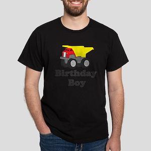 Dump Truck Birthday Boy Dark T-Shirt