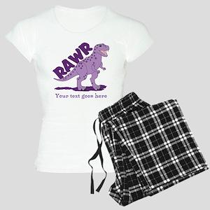 Personalized Purple Dinosaur RAWR Women's Light Pa