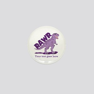 Personalized Purple Dinosaur RAWR Mini Button