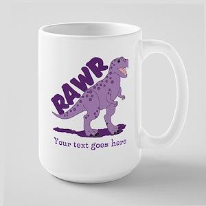 Personalized Purple Dinosaur RAWR Large Mug