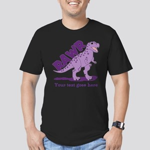 Personalized Purple Dinosaur RAWR Men's Fitted T-S