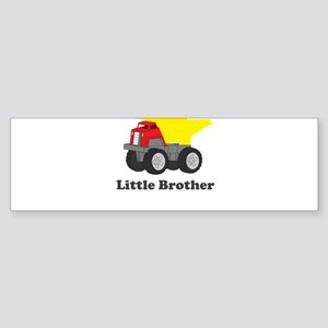 Little Brother Dump Truck Sticker (Bumper)