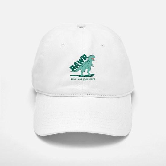 Personalized Green Dinosaur RAWR Cap
