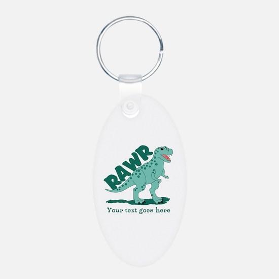 Personalized Green Dinosaur RAWR Keychains