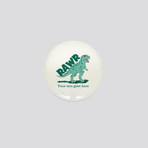 Personalized Green Dinosaur RAWR Mini Button