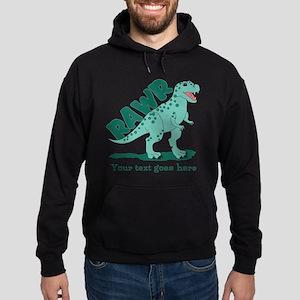 Personalized Green Dinosaur RAWR Hoodie (dark)