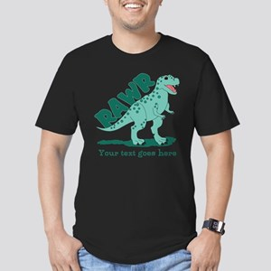 Personalized Green Dinosaur RAWR Men's Fitted T-Sh