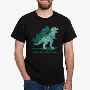 Personalized Green Dinosaur RAWR Dark T-Shirt