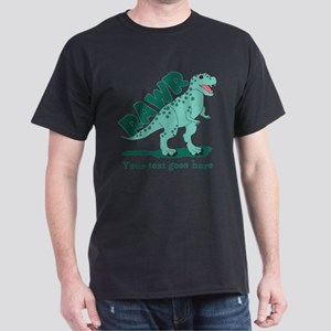 Personalized Green Dinosaur RAWR Dark T-Shirt