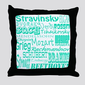 Classical Composers Throw Pillow