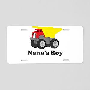 Nanas Boy Dump Truck Aluminum License Plate