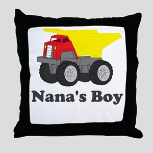 Nanas Boy Dump Truck Throw Pillow