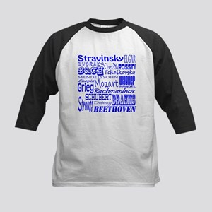 Classical Composers Kids Baseball Jersey