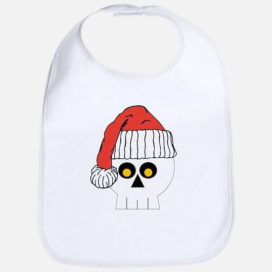 Santa Skull Christmas Bib