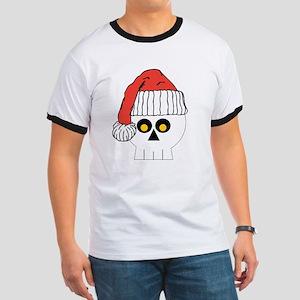 Santa Skull Christmas Ringer T