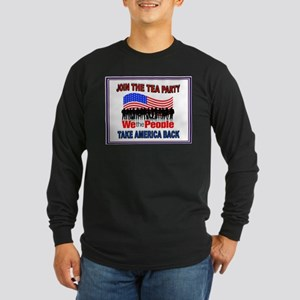 TEA PARTY Long Sleeve Dark T-Shirt