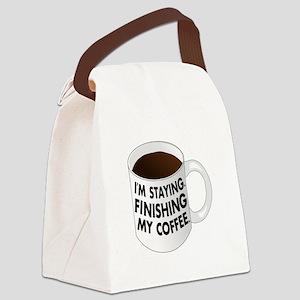 Im staying Walter Lebowski Canvas Lunch Bag