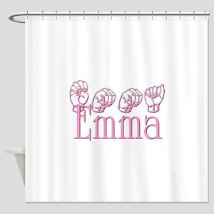 Emma in ASL Shower Curtain