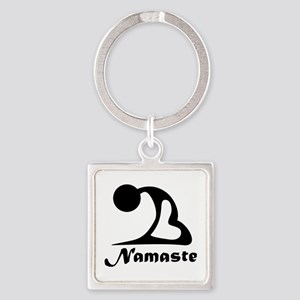 Namaste Square Keychain