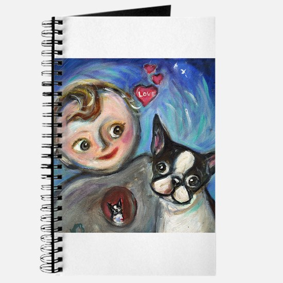 Boston Terrier baby love Journal