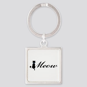 Meow Square Keychain
