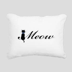 Meow Rectangular Canvas Pillow