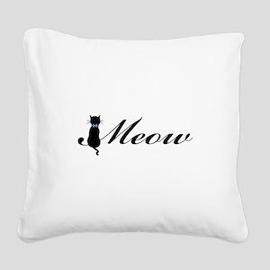 Meow Square Canvas Pillow