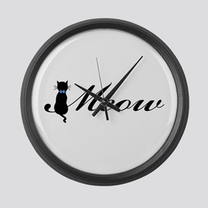 Meow Large Wall Clock