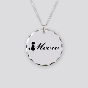 Meow Necklace Circle Charm