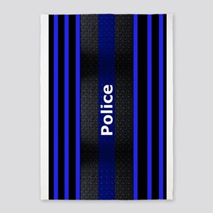 Police Thin Blue Line 5'X7'area Rug
