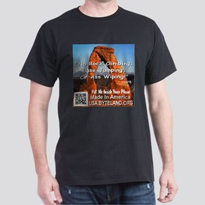 Delicate Arch No Rock Climbing Dark T-Shirt