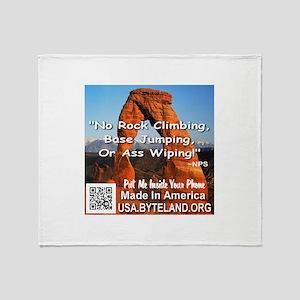 Delicate Arch No Rock Climbing Throw Blanket