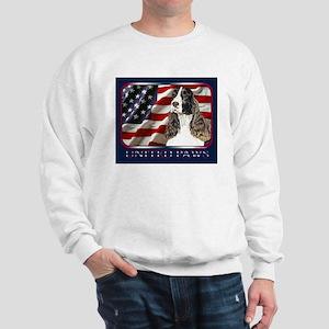 English Springer Spaniel Flag Sweatshirt