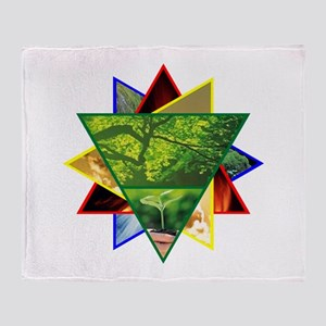 Earth Element Star Throw Blanket