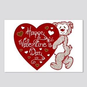 Valentines Day Bear Postcards (Package of 8)