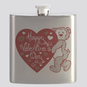 Valentines Day Bear Flask