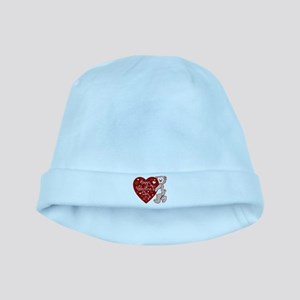 Valentines Day Bear baby hat