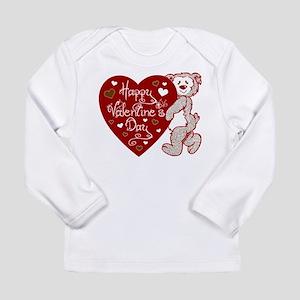 Valentines Day Bear Long Sleeve Infant T-Shirt