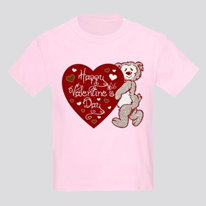 Valentines Day Bear Kids Light T-Shirt