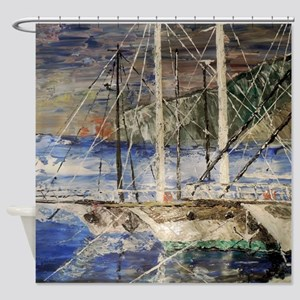 Time To Sail Shower Curtain