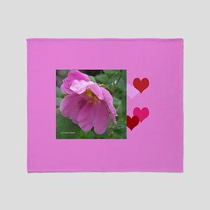 Alaska Wild Rose Throw Blanket