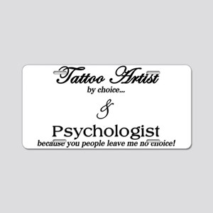 Tattoo Artist Aluminum License Plate